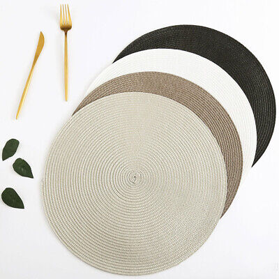 AU20.35 • Buy 4/6/8x Woven Round Placemats Dining Table Place Mats Heat-insulated Non-slip Mat