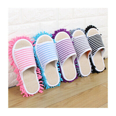 1Pair Home Cleaning Mop Slippers Detachable Lazy Floor Dusting Shoes S/M/L • 9.31£