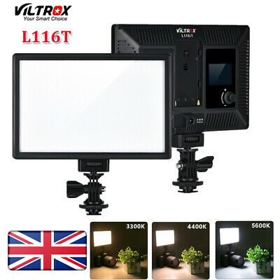 VILTROX L116T 5600K/3300K Bi-color LED Light Panel Dimmable Video Light Kit • 29.77£