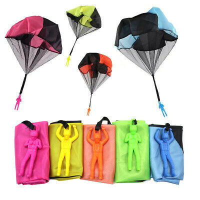 Hand Throwing Mini Soldier Parachute Outdoor Game Play Funny Toy Random • 4.38£