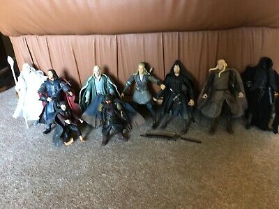 """Lord Of The Rings 6"""" Figures, 9 In All, Including Gandalf The White, Frodo etc • 4.10£"""