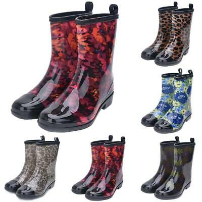 Ladies Womens Wellies Flower Garden Festival Rain Waterproof Wellington Boots UK • 21.37£