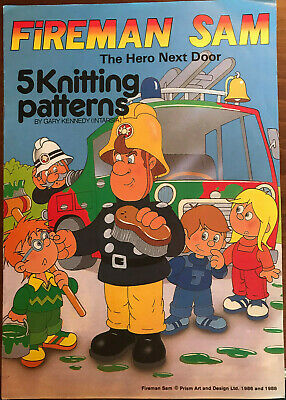 Fireman Sam KNITTING PATTERN 4 Intarsia Jumper Designs Childrens Adults Kennedy • 7.99£