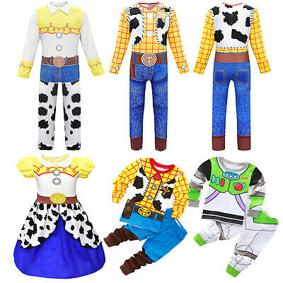 Toy Story Woody Jessie Buzz Lightyear Cosplay Costume Adult Kid Halloween Outfit • 8.64£