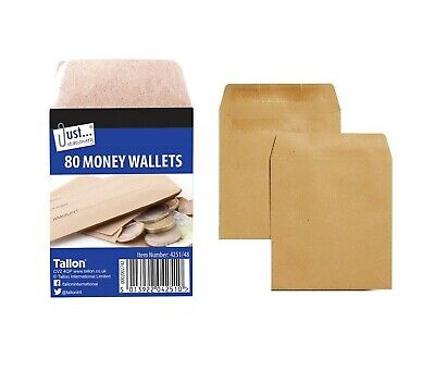 £2.58 • Buy 50 Wage Envelopes Cash Earnings Packet Self Seal Pay Cash Coin Money