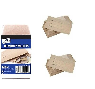 400 Small Brown Envelopes For School Dinner Money Wages Coin Beads & Seeds • 10.97£