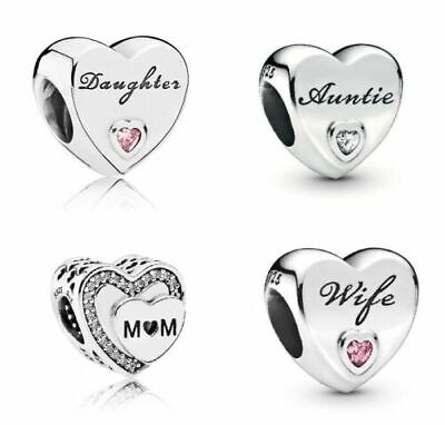 Pandora Moments Daughter Wife Mum Granddaughter Auntie Best Friend Charm Uk Sale • 13.99£