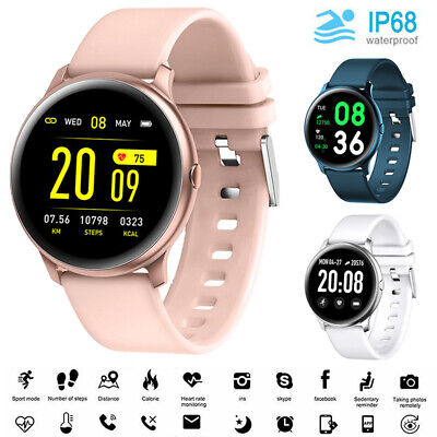 AU31.95 • Buy Smart Watch Blood Oxygen Heart Rate Monitor Bracelet Fitness Tracker For Android