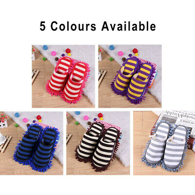 Cleaning Mop Slippers Shoes Cover Soft Washable Reusable Lazy Foot Socks • 9.56£