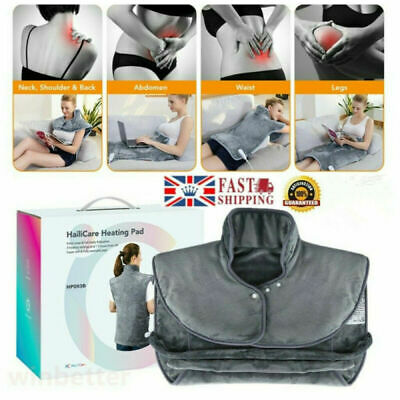 Electric Heat Pad Shoulders Back Neck Heating Pain Relief Body Warming Mat UK • 39.88£
