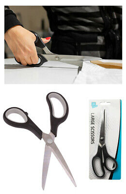 Large Stainless Steel Scissors Kitchen Home Office Arts Crafts Cutting Easy Grip • 1.95£