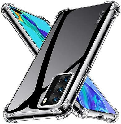 CLEAR Case For Huawei P20 P30 P40 Mate 20 Pro Silicone Gel Shockproof Cover • 2.90£