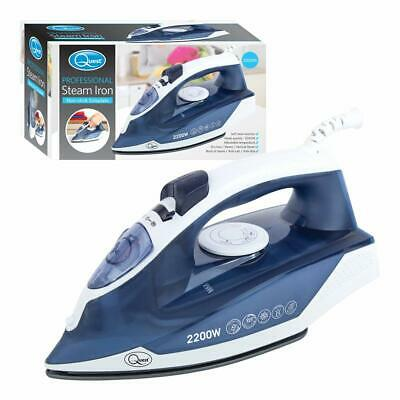 View Details Quest 2200W Handheld Professional Steam Iron Non Stick Soleplate Self Cleaning B • 14.20£