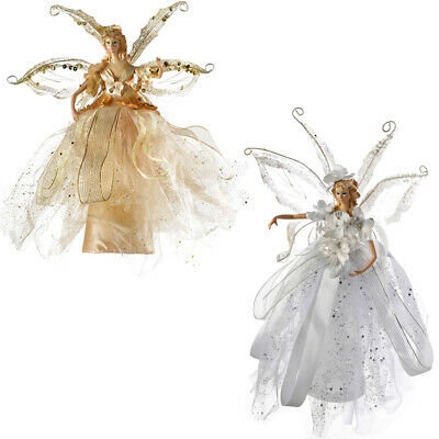 Christmas Fairy Tree Topper Decoration Gold / Silver 28cm • 13.99£