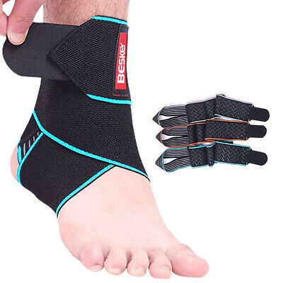 Adjustable Ankle Support Strap Brace Sports/Chronic Ankle Strain/Sprains/Fatigue • 5.99£