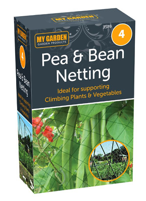 £4.99 • Buy Pea & Bean Netting Protection For Spring Garden Climbing Plants Vegetable Patch