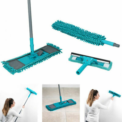 Alpina 7Pcs Microfibre Home Cleaning Set Floor Mop / Window Cleaner / Duster • 7.95£