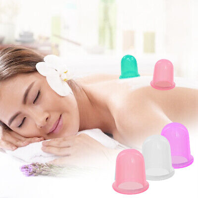 Silicone Massage Vacuum Body Facial Cup Anti Cellulite Cupping UK Anti Ageing UK • 1.49£