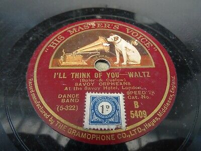 Savoy Orpheans - I'll Think Of You/lonely Nights In Hawaii 10  78 Rpm V+ • 2.95£