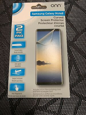 $ CDN9.50 • Buy Samsung Galaxy Note 8 Curved Screen Protector Brand New From Onn