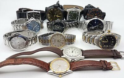 $ CDN29.50 • Buy Lot Of 12 Men's Watches For Parts/Repair W/Seiko Skagen & More BT2531