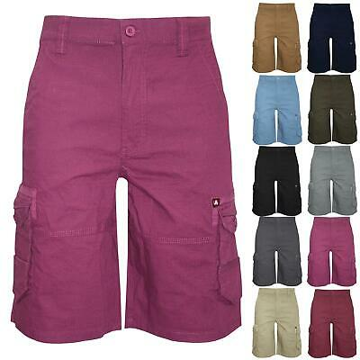 Airwalk Mens Combat Knee Length Summer Pants Zip Up Single Pocket Cargo Shorts • 8.99£