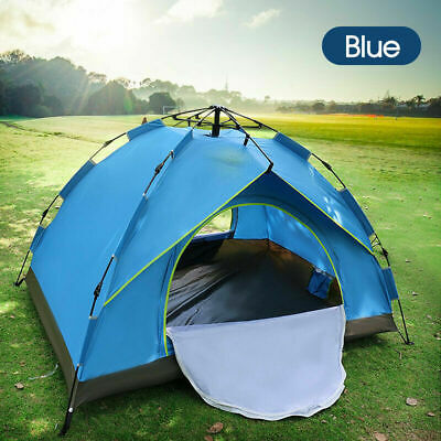 AU45.99 • Buy Automatic Quick Open Camping Outdoor Tent Waterproof Double Layer 3-4 Persons