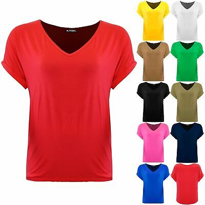 £4.99 • Buy Plus Size Ladies Women Batwing Oversized Baggy Loose Turn Up Top V Neck T Shirt