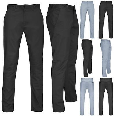 £7.99 • Buy Mens Chino Pants Cotton Skinny Fit Slim Fitted Stretchy Pockets Casual Trousers
