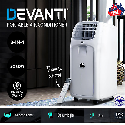 AU449.99 • Buy Devanti Air Conditioner Portable Cooling Mobile Fan Remote Control Window Kit