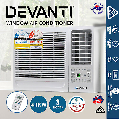 AU550.92 • Buy Devanti 4.1kW Window Air Conditioner Reverse Cycle Wall Cooler Heater Portable