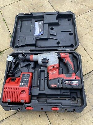 Milwaukee HD18HX-402C 18V Heavy Duty SDS Hammer Drill With Carry Case M18 • 220£