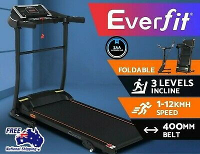 AU686.40 • Buy Electric Treadmill Incline Home Gym Exercise Machine Fitness Run 400mm Folding