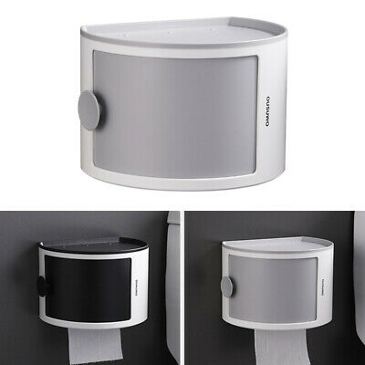 AU29.48 • Buy Bathroom Wall Mounted Toilet Paper Roll Holder Tissue Box Dispenser Waterproof