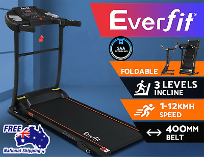 AU686.40 • Buy Everfit Electric Treadmill Incline Home Gym Exercise Machine Fitness 400mm