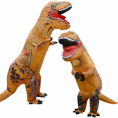 Adult Halloween T-REX Inflatable Dinosaur Costume Jurassic Dress Blowup Outfit • 14.24£