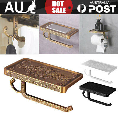 AU23.99 • Buy Vintage Wall Mounted Toilet Roll Tissue Holder Stand Bath Phone & Paper Holder