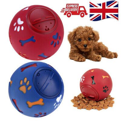 Pet Puzzle Toy Food Dispenser Tough-Treat Ball Dog Interactive Puppy Play Toys • 5.99£