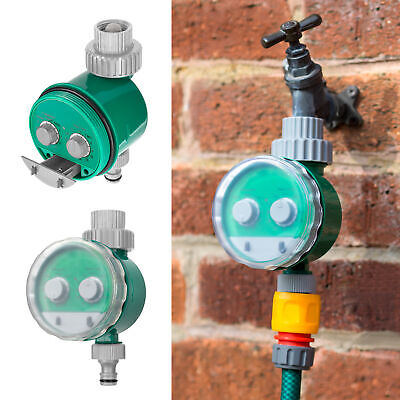 Automatic Electronic Water Timer Hose Tap Irrigation Plant Watering Daily 24hr • 12.95£