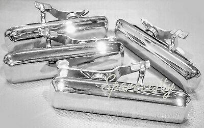 AU99.95 • Buy FORD FALCON XD XE XF DOOR HANDLE Set 4 Triple CHROME METAL CORTINA TE TF NEW