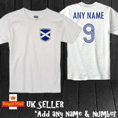 £9.99 • Buy Scotland Personalised Football T-shirt Kids Gift Euros World Cup
