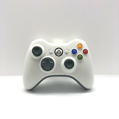 AU43 • Buy White Xbox 360 Controller Genuine Microsoft Rechargeable Battery Free Postage