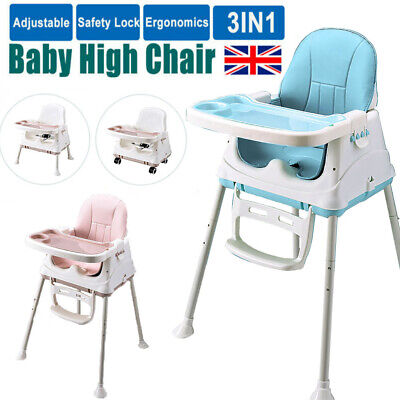3 In 1 Portable Baby Toddler High Chair Folding Comfortable Feeding Table Seat • 27.98£