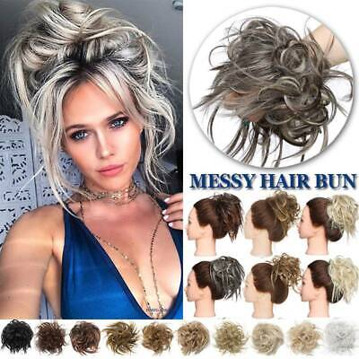 £8.84 • Buy X-Large Scrunchie Messy Bun Updo Tousled Hair Piece Wrap On Ponytail Extensions