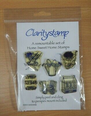 Clarity Stamp Remountable HOME SWEET HOME  SET - 6 Stamps  -   • 6.99£
