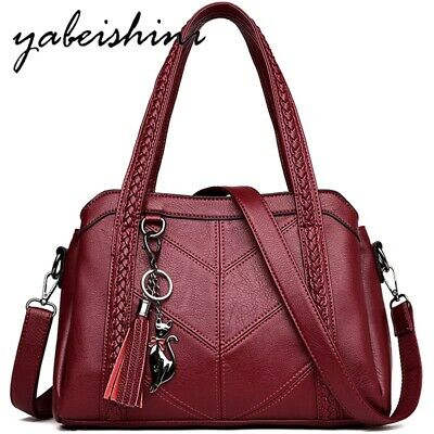 NEW Women Satchel Messenger Leather Briefcase Shoulder Bag Tote Purse Handbag • 23.66£