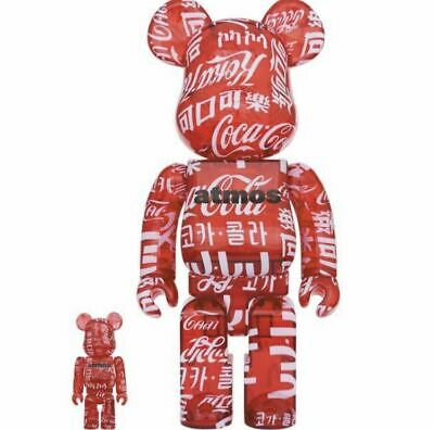 $507.39 • Buy Atmos Coca-Cola Be@Rbrick Clear Red 100 400 Bearbrick Coca Cola Medicom Toy