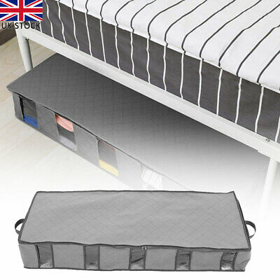 Large Capacity Under Bed Storage Bag Box 5 Compartments Clothes Socks Organizer • 10.02£