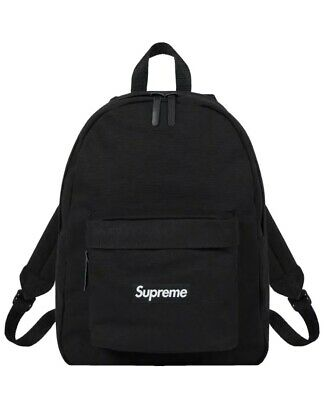 $ CDN268.15 • Buy Supreme Canvas Backpack Black IN HAND READY TO SHIP