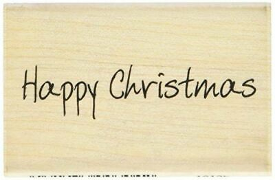 £4.56 • Buy Scribbled Happy Christmas Wood Mounted Rubber Ink Stamp